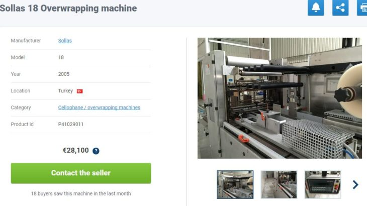 cellophane wrapping machine Sollas