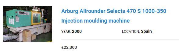 arburg machine price offer 1