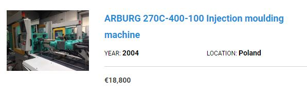 arburg machine price offer 2