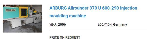arburg machine price offer 3