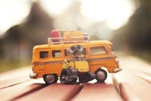 Robot with van